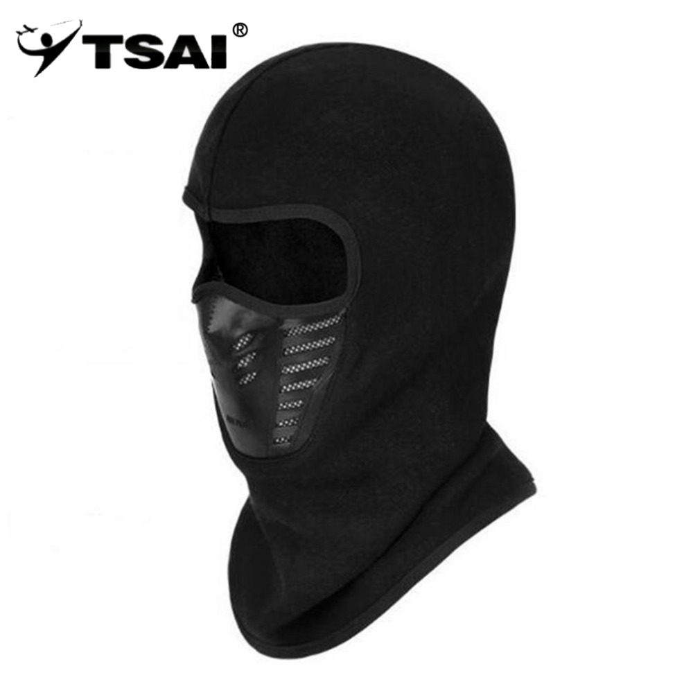 TSAI Outdoor Riding Skiing Mask Face Cover Ninja Style Head Cap Warm Thickening Fleece Mask With Filtering Function Drop Ship