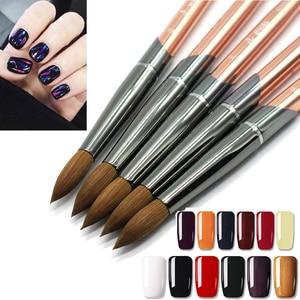 Image 2 - Eval Paint Brush 100% Pure Kolinsky Sable Nail Brush UV Gel Acrylic Nail Art Brush Set Nail Tool