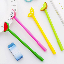 Kawaii Fruit Gel Pen Cute watermelon black ink Signature pens Promotional Gift Stationery School writing Supplies