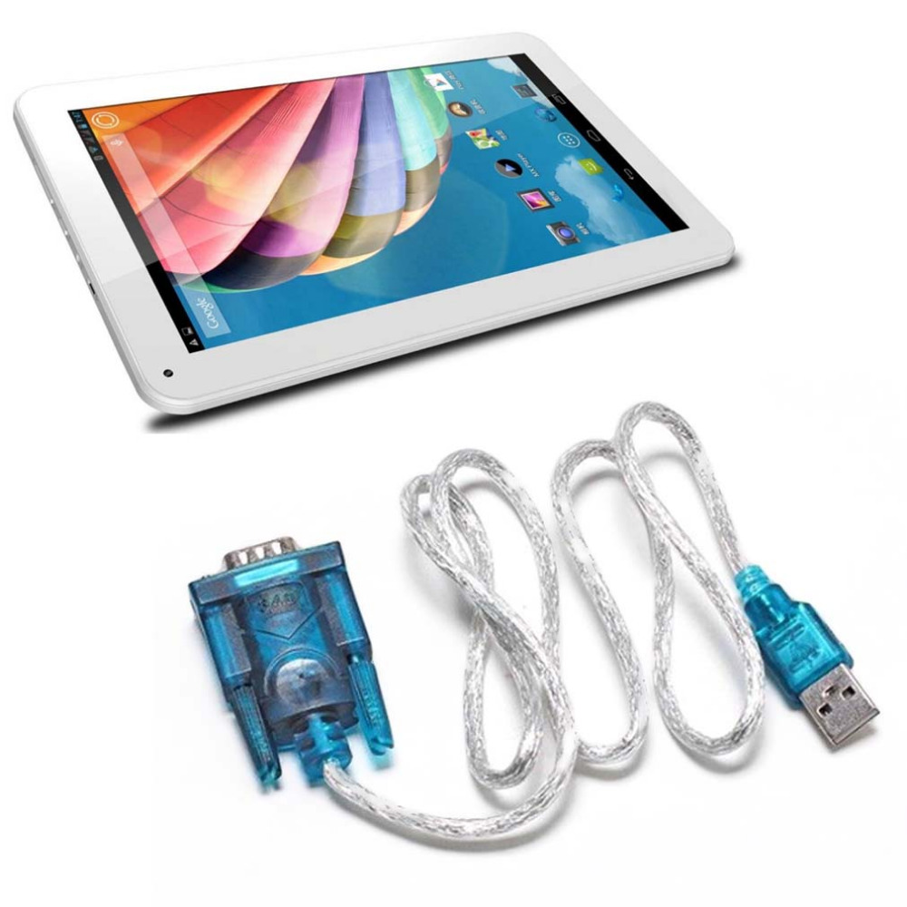 USB 2.0 To Serial RS232 DB9 9 Pin Adapter Cable PDA Cord GPS Converter Fully Compliant with USB 2.0