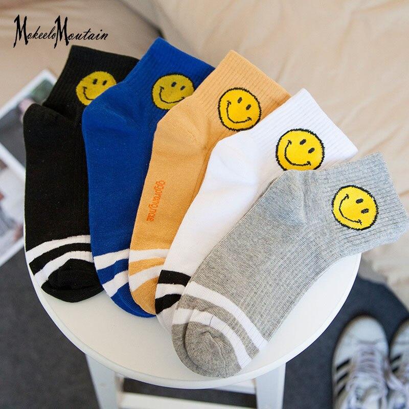 2018 Cartoon Funny   Socks   Women Harajuku Cute Smile Face Cotton   Socks   for Girls Japanese Streetwear Lolita   Socks