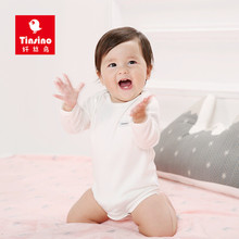 Tinsino Newborn Baby Girl Boy Autumn Bodysuits Infant Long Sleeve Jump Suit Toddler Spring Jumpsuits Children