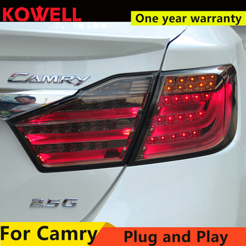 KOWELL Car Styling for Toyota Camry 2012+ 2013 2014 12V Car LED Rear lights DRL Taillight Rolling Turning Signal Auto Rear Light