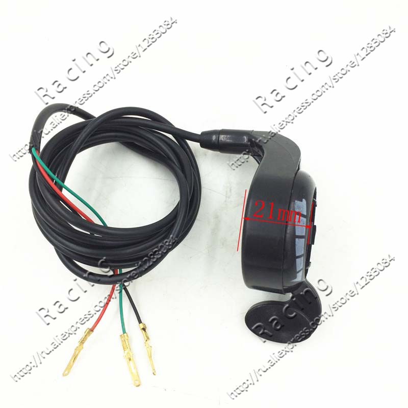 цены Universal Motorcycle 7/8 Handlebar Black Metal Thumb Throttle E-Bike Electric Bike Scooter 24v 36v 48v