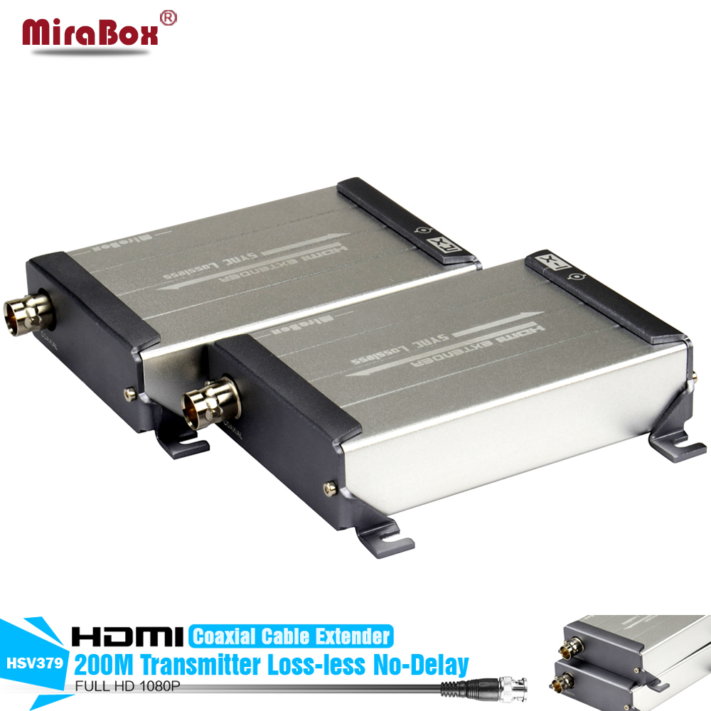 LossLESS No-delay HDMI Over Coax Cable Extender 200m 1080P HDMI Over Single RG59/RG-6U Coax Cable Extender For DVR,Home Theater hsv379 sdi hdmi extender with lossless and no latency time over coaxial cable up to 200 meters support 1080p hdmi extender
