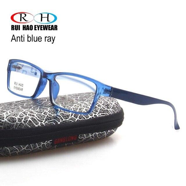 Clear Anti Blue Ray Óculos Retângulo Óculos Óculos de Armação Das Mulheres  Dos Homens Unisex Óculos cba00721c4