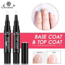 Saviland Newest Top Base Coat UV Gel Varnish Pen Hybird Nail Polish Non Cleansing Primer Finish Top Coat Gel Lacquer(China)