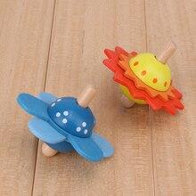 Crianças brinquedos de madeira flor girar girando topo de madeira clássico brinquedos para crianças desenvolver inteligência educação montessori brinquedos
