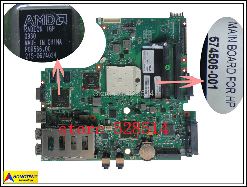 original laptop motherboard for HP ProBook 4515s 4416s Series 574506-001  100% Test ok bosch 6шт t308b t308bf t301bcp t234x robust line wood expert 2 607 010 572