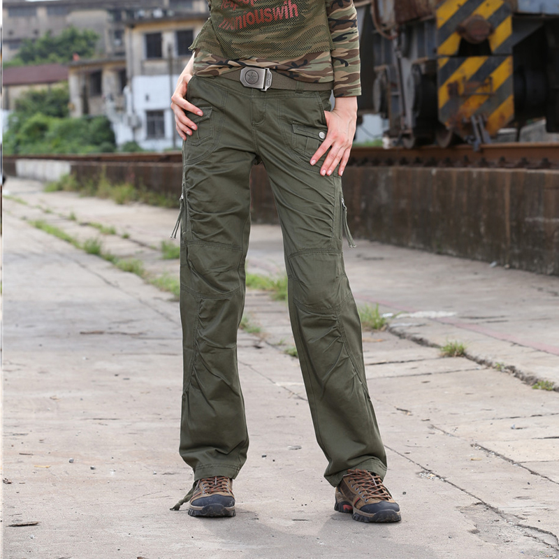 New Autumn Women Pants Slim Cotton Casual Pants Pleated Trousers Full Length Overalls Spring Women's Pants & Capris Female