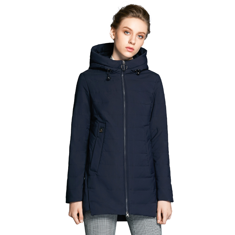 ICEbear 2018 new women jacket autumn padded long pocket design fall warm coat fashion brand  fashion  jackets GWC18129D invierno hooded horn button coat women winter parkas black outwear 2017 stylish long women overcoat loose keep warm jacket xh710