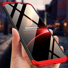 360 Degree Full Protection Hard Case For Huawei Y7 Pro Cover shockproof case 2019 + glass Film
