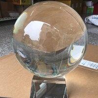 Ясно 20 см/200 мм K9 Редкие Природный кристалл шар Волшебный сфере Fengshui Стекло удачи исцеления Бал пресс папье для домашнего декора