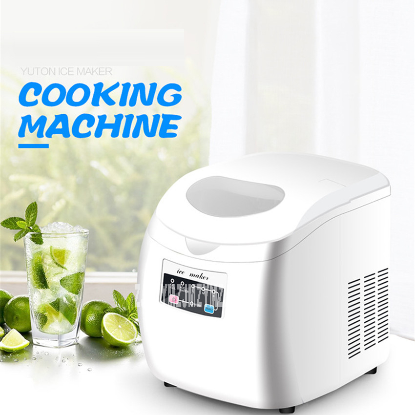 YT-E-004A 110V/220V Ice Machine Commercial Milk Tea Shop Home Small Automatic Ice Machine Large Capacity 12-15kg/24h Ice Maker