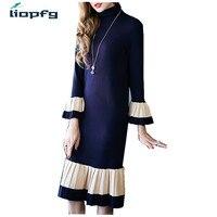 New Fashion Women S Autumn Spring Winter Sweater Dresses Ladies Knitting Long Sleeve Dress Women Dress