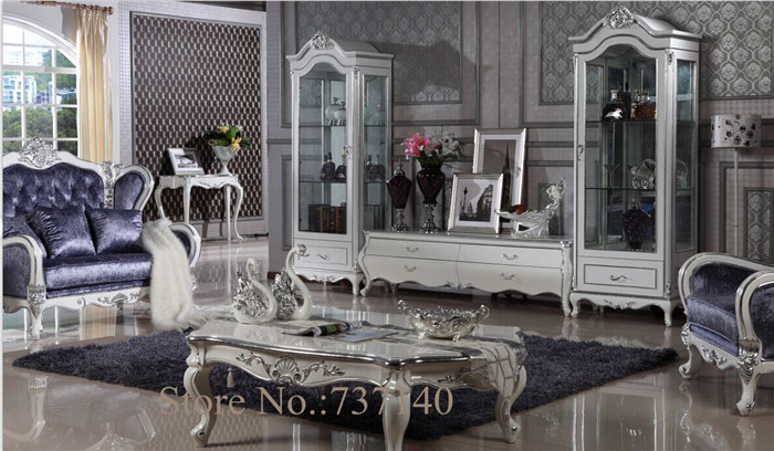 US $1896.0 |wood cabinet glass mirror furniture cabinet storage shelves  living room cabinet retro cabinet wholesale price-in Living Room Cabinets  from ...