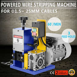 Free shipping 220V Powered Electric Wire Stripping Machine Cable Stripper 1.5-25mm Copper