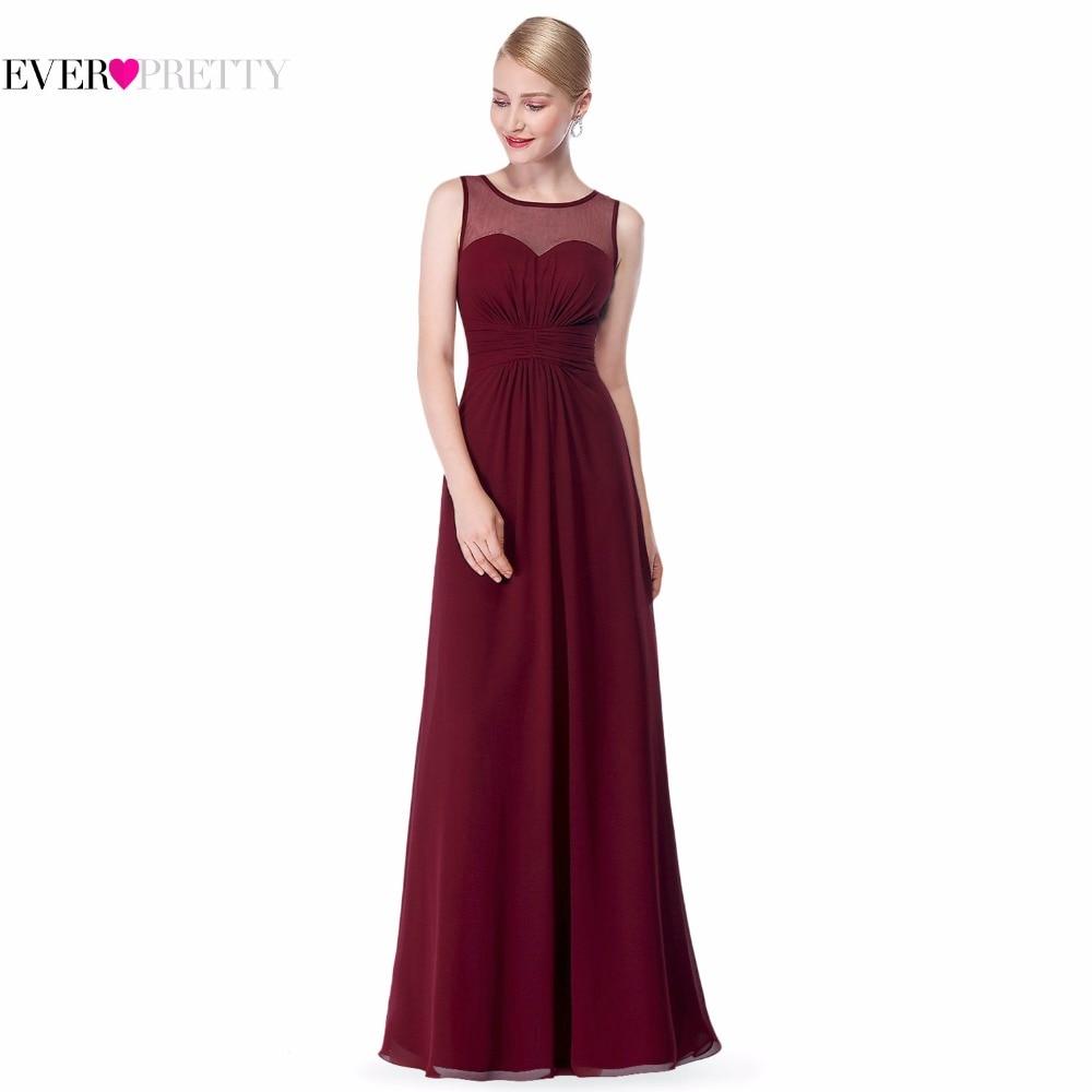 Pink long chiffon bridesmaid dress ep08761 2017 illusion for Burgundy wedding dresses plus size
