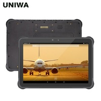 UNIWA T11 IP67 방수 휴대 전화 견고한 태블릿 안드로이드 7.0 RJ45 포트 핫 스왑 가능 배터리 10.1 인치 NFC 야외 태블릿 PC