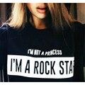 NO SOY Una PRINCESA SOY Una ESTRELLA de ROCK Mujeres de la Camiseta de La Cadera carta estilo hop top fashion clothing camiseta de verano camiseta más tamaño t-f10970