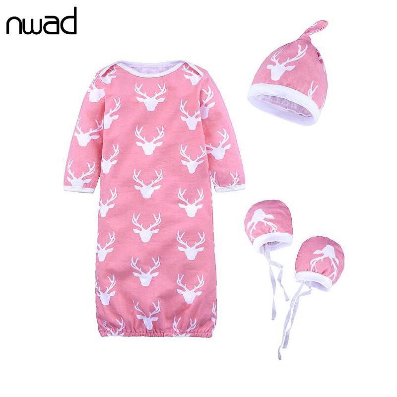 NWAD Newborn Dleeping Bag Kids Soft Cotton With Hat Autumn Baby Stroller Sleeping Bag Xmas Elk Print Baby Nest Sleeping FF433 ...