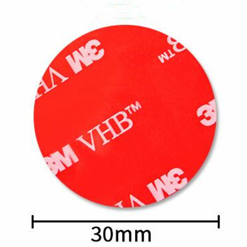10Pcs/Lot Round 30mm 3M VHB 5608 High Sticky Acrylic Adhesive Double Sided Foam Tape It Can Sticky To Glass Metal And So On(China)