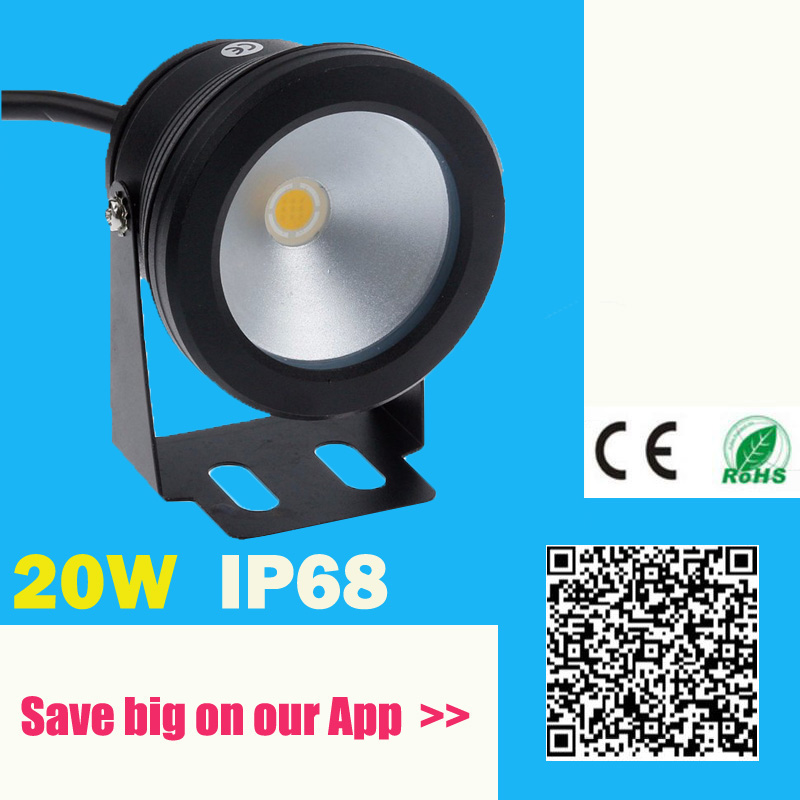 IP68 Waterproof 20W 12V LED Underwater Fountain Light 1000LM Swimming Pool Warm Cold Pond Fish Tank Aquarium LED Light Lamp