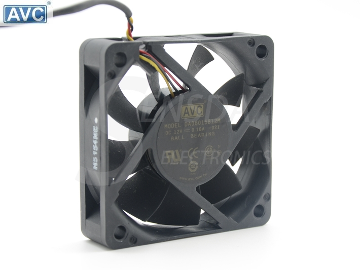 Original For AVC DA06015B12M <font><b>60</b></font>*<font><b>60</b></font>*15 <font><b>mm</b></font> DC 12V 0.18A 3-pin axial server inverter TV Set cooling <font><b>fan</b></font> image
