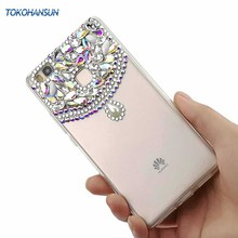 Tokohansun Silicone Bumper Cases for Huawei V10 P20 Lite Plus P10 Mate 10 Pro Cover Crystal Diamond Cases Mobile Phone Case