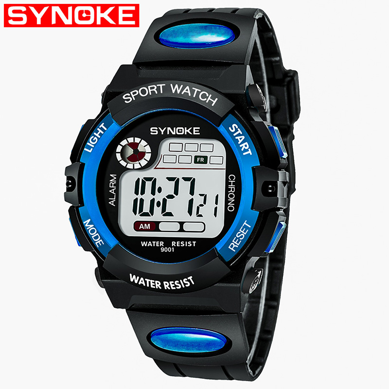 Boy Watches Shock-Wristwatch Alarm-Date Quartz Digital Sports Waterproof Electronic Kids