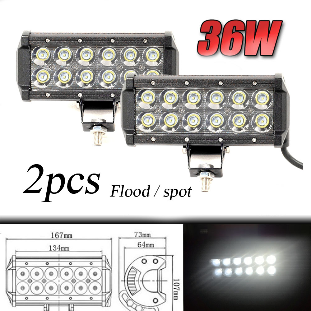 2pcs DC9-32V 36W 7inch Led work light bar with Creee Chip light bar for truck off road 4X4 accessories ATV Car light 2pcs dc9 32v 36w 7inch led work light bar with creee chip light bar for truck off road 4x4 accessories atv car light