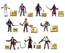 "Lot of 10 Indiana Temple of Doom Crystal Skull Lost Ark 3.75"" Loose Action Figure Set"