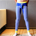 Men long johns mens warm pants thin elastic line of men's fashion cotton sexy gay underwear tight legging long Johns