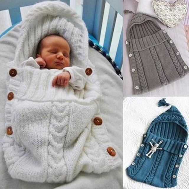 b2a86e8ef42a Sacos de Dormir Do Bebê de Algodão macio Tricô Envelope para o Bebê  Recém-nascido