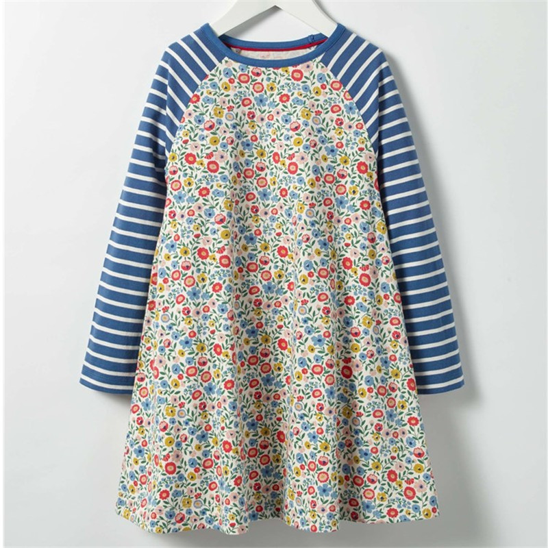 Jumping meters Flamingo Girls Dresses baby clothing New arrival animals cotton princess autumn jersey children's girl frocks jumping meters top brand dresses girls baby new clothing cotton striped applique animals princess autumn spring kids dress girl