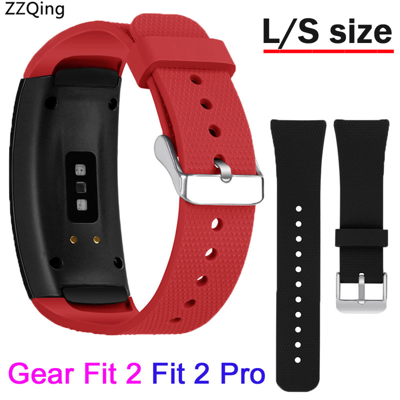 L/S Size For Samsung Galaxy Gear Fit 2 Pro Strap Band Silicone Wrist Bracelet Sports Watchband For Samsung Gear Fit 2 SM-R360
