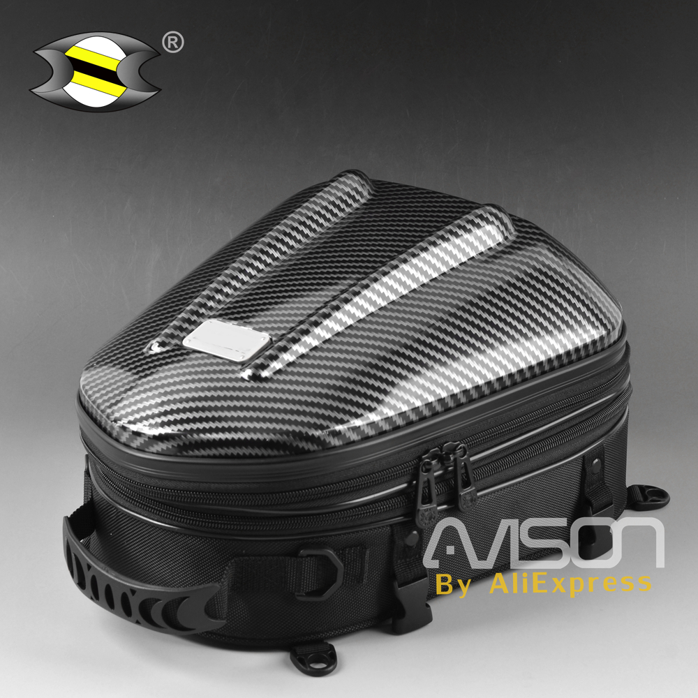купить Motorcycle Tail Bags Package Back Seat Bags Universal Motorbike Hard-Shell Seat Bag racing travel outdoor package по цене 4487.84 рублей