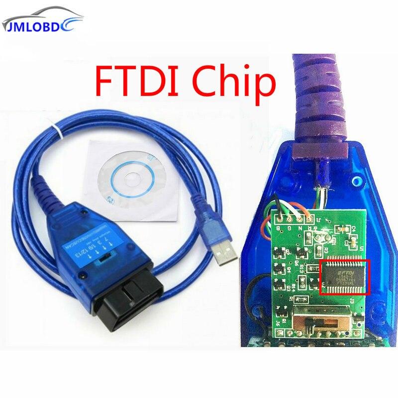 2018 Obd2 Diagnostic Cable for VAG 409 USB VAG KKL Fiat VAG USB Interface Car Ecu Scan Tool 4 Way Switch with FTDI Chip