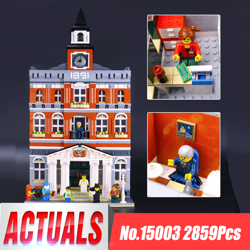 Lepin 15003 The Topwn Hall Model Building Blocks Kid Toys Kits Compatible legoing 10224 Educational Children Birthday Gifts Toys lepin 16008 cartoon castle city model building blocks brinquedos kid educational toys for children gifts compatible blocks 71040