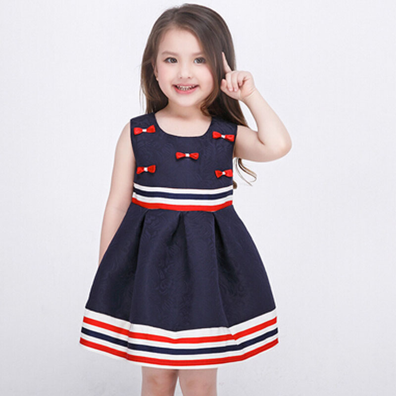 43b7397da543 2017 European and American style dress kids girls spring and summer baby  girls princess dress upscale foreign trade print dress-in Dresses from  Mother ...