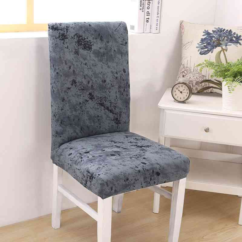 Hot Sale Ink Texture Pattern Printed Universal Size Chair Cover Home Dining Room Chair Cover Wedding Banquet Chair Cover 1 piece