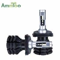 Ammtoo Car Headlight H4 Led H7 H15 LED Bulb HB3 HB4 Fog light H1 H11 9012 50W 10000LM Auto lamp Change Color Film 3200K or 8000K