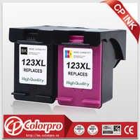 CP 2PK 123 Commercio All'ingrosso per HP123 123XL Cartuccia di Inchiostro per HP DeskJet 1110 1111 1112 2130 2132 2134 Officejet 3830 3831 3832 3834