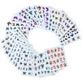 30 unids Mezclada Colorida Mariposa Diseños de Calcomanías de Agua Nail Art Sticker French Tips Decoración Herramientas Mujeres Nail Polish Art NJ110