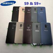 Аккумулятор для Samsung Galaxy S9 G950 S9 Plus G965 S9 +, стеклянная задняя крышка, замена корпуса, запасные части, наклейка, стекло для камеры