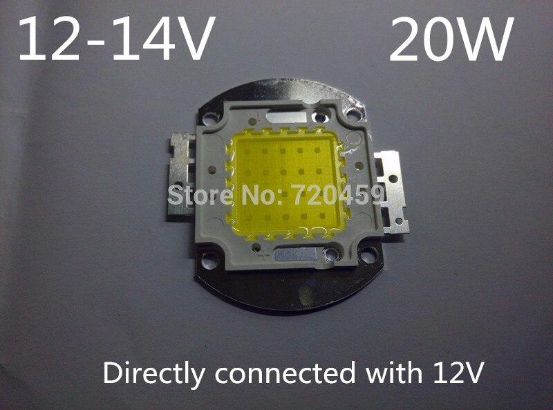 20 와트 높은 전원 led 빛 구슬 슈퍼 밝은 화이트 cob 칩 led 조명 12-14 볼트 무료 배송 대만 칩 높은 전원