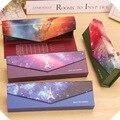 Fantástico cielo estrellado galaxy casvas cerrojo lápiz caso bolsa de almacenamiento de papelería escuela material de oficina papelería