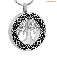 KLH9857 Fashion Tree of Life Urn Necklace Stainless Steel Cremation Jewelry Memorial Keepsake Pendant,Wholesale Funeral Jewelry