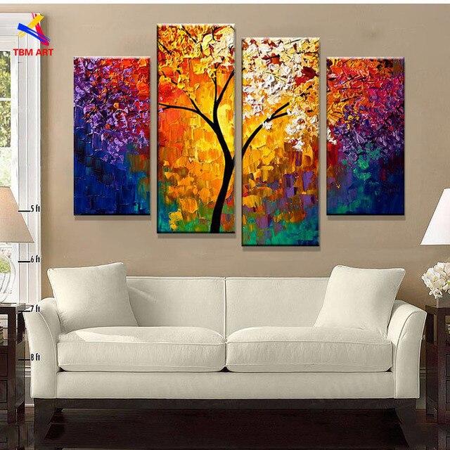 Vida Brilhante 193 Rvore Imagem Pintura Abstrata Moderna