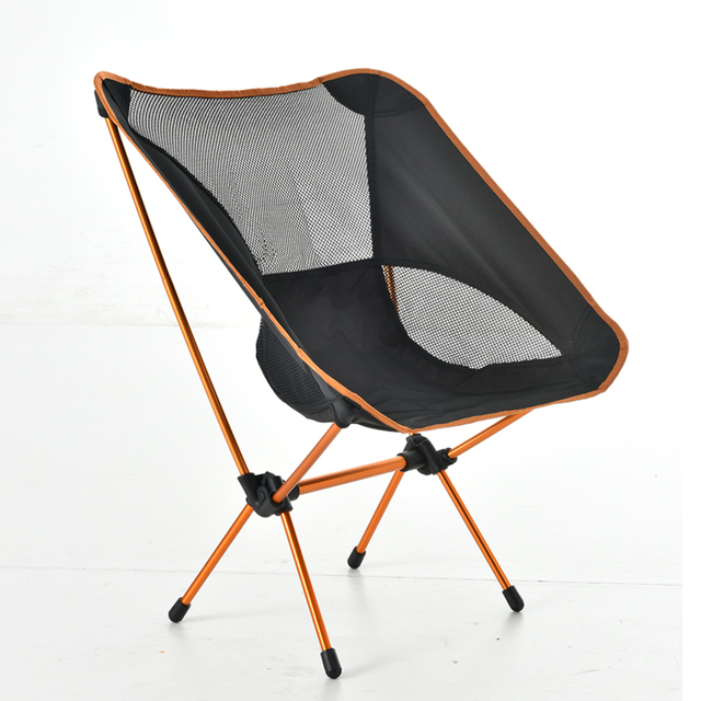 New Portable Lightweight Camping Chair Aluminum Folding Beach Chair With  Bag For Outdoor Hiking Travel Picnic